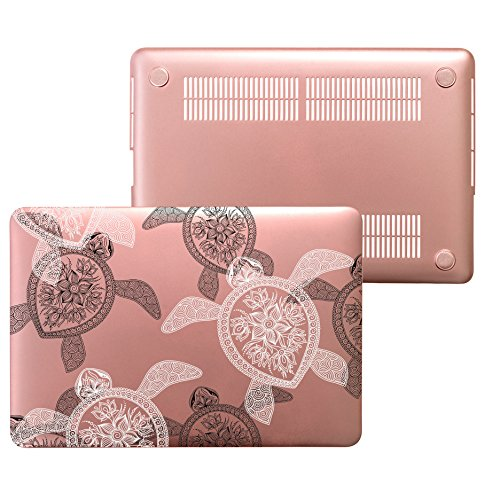 MacBook Air 13 Rose Gold Case, Plastic Hard Shell Snap On Ca
