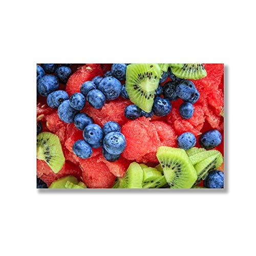 Unframed Insert Panel - VinMea Fruit Feast Art Print Poster on Canvas (20x13 inches, unframed)