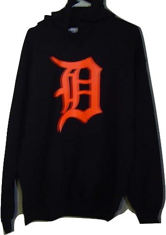 Gildan Detroit NEON Orange Old English D Pullover Hoodie at