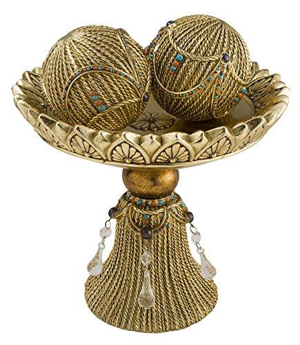 OK Lighting Auric Twists Decorative Bowl with - Twist Sphere
