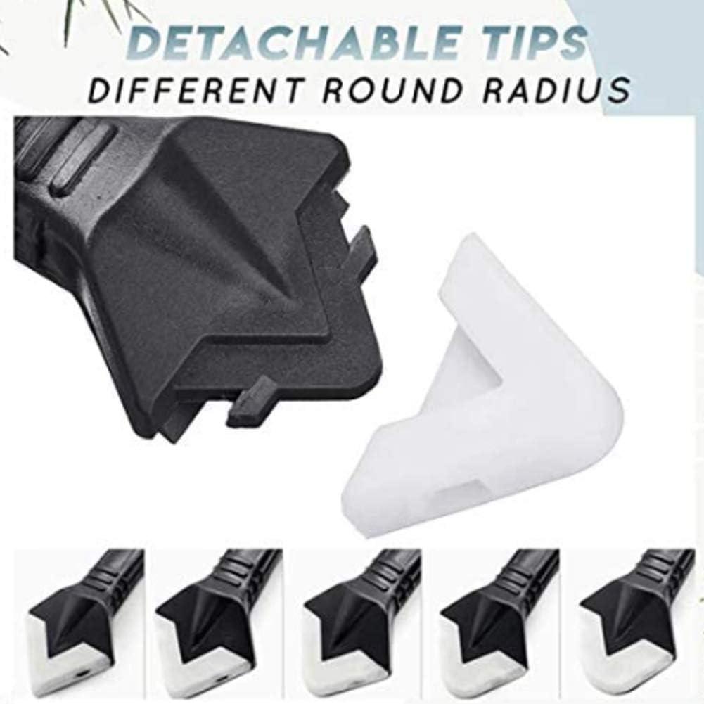 verbesserter Silikonkellenschaber f/ür Badezimmerfenster-K/üche f/ür glatte Schaber Fugenentferner Kit 3 in 1 Silikon-Dichtungswerkzeuge DHFD silikon-dichtungswerkzeug-kit