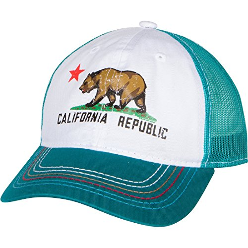 (Dolphin Shirt Co California Republic Screen Print Trucker Hat - Teal)