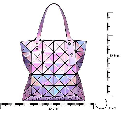borsa Viola spiaggia Laser a per per Tisdaini le geometrica da donna spiaggia da donne pieghevole Borsa borsa tracolla TBxBvqwaE
