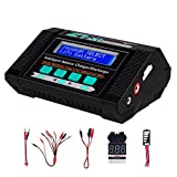 Keenstone Lipo Battery Charger/Discharger with Low Voltage Checker, 10A 100W AC/DC 1S-6S Digital Battery Balance Charger for Li-Po Li-Hv Li-Ion Li-Fe NiMH Ni-Cd Pb