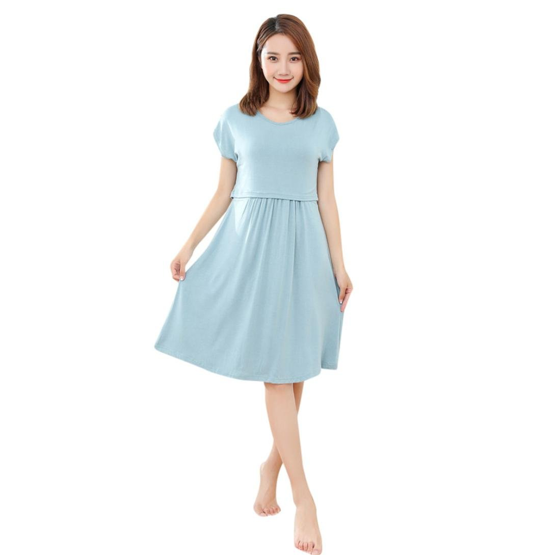 7f7bf5246a7f2 Amazon.com: Hongxin Maternity Dress, Women Long Dresses Maternity Nursing  Dress For Pregnant Women Pregnancy Summer Casual Dress Clothing Mother Home  ...
