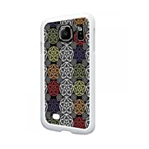 Floral Origami - Color Wheel Colours TM Samsung Galaxy s7 EDGE White Plastic Phone Case Made in the USA