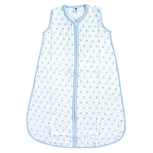 Hudson Baby Safe Sleep Wearable Muslin Sleeping Bag, Blue Sheep, 12-18 Months