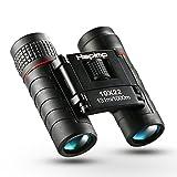 Binoculars, Hapimp 10x22 Folding Portable Compact Binoculars,Lightweight Waterproof Mini Telescope,Field Glasses with Weak Night Vision,HD Wide-angle Lens,for Bird Watching,Travelling,Game,Kids,Adults