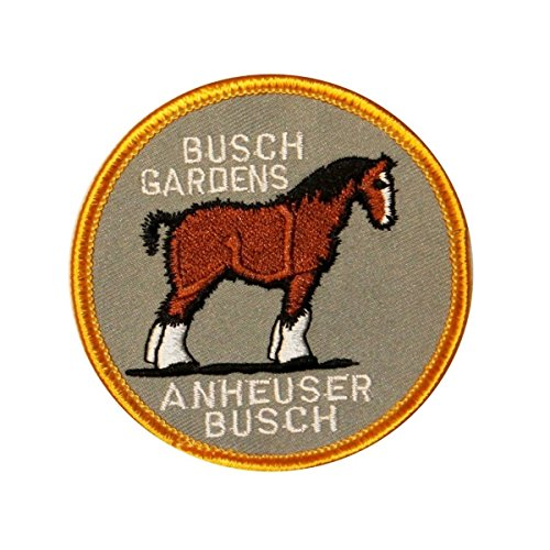 Anheuser Busch Gardens - Cool-Patches Busch Gardens Clydesdale Patch Horse Travel Anheuser Embroidered Iron On Applique