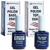 #10: Professional Salon Quality No-Cleanse Gel Polish Top Coat + Gel Base Coat Duo