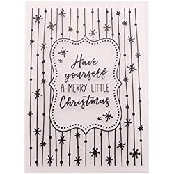 Shoresu Plastic Embossing Folder Stencils Template Molds DIY Scrapbooking Paper Photo Album Card Decoration - Merry Christmas Snowflakes
