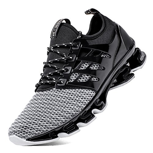 SKDOIUL Men Size 46 Sneakers Men Running Fashion Shoe Springblade Sport Running Shoes for Mens Mesh Breathable Trail Runners Fashion Sneakers (8066-grey-46)