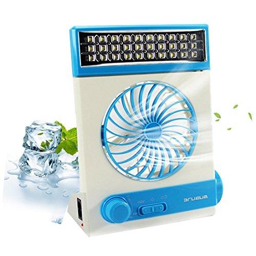 KASQA Solar Table Lamp Mini Fan 3 in 1 Multi-function Portable Eye-Care Desk Light Flashlight Solar Light For Adult Children Home Camping Solar