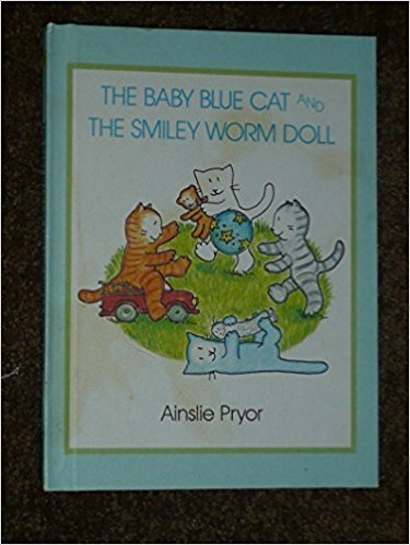 The Baby Blue Cat and the Smiley Worm Doll