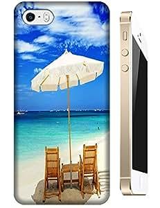 Beautiful Beach Sunshine Sea Water Clean White Cloud Design For iPhone 5C No.2