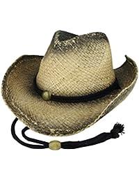 Tea Stained Raffia Straw Cowboy Hat