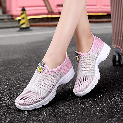 Zapatos De Mujer Zapatillas Gimnasia Gris Sin Zapatos Botas para Suaves De Mujeres Cordones Gimnasia Casuales Malla Zapatos De OHQ Mocasines Transpirables para Correr vwq0xdPv