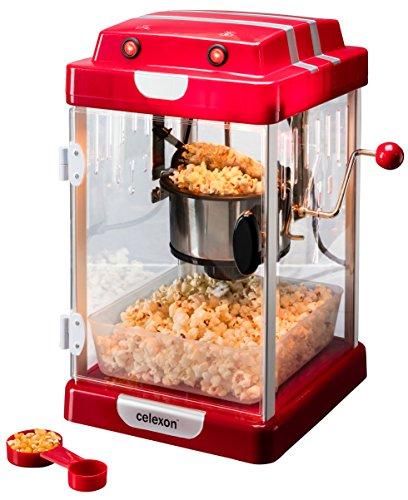 Celexon CinePop CP1000 Popcorn Machine - 22x17,5x28,5cm - Red Retro/Cinema...