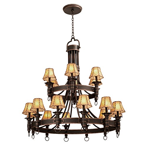 Chandeliers 18 Light with French Cream Finish Hand Forged Wrought Iron E12 145 inch 720 Watts