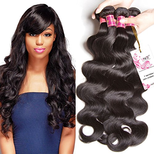 UNice Hair Icenu Series 8A Brazilian Body Wave Virgin Hair 3 Bundles 100% Human Hair Weave Extensions Natural Color 95-100g/piece (8 10 12) (Best Home Hair Dye Uk)