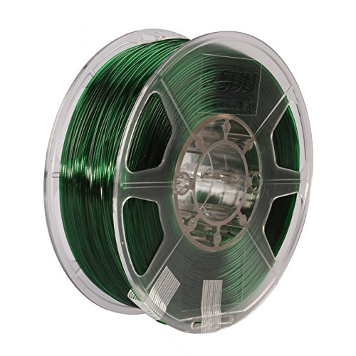 - eSUN 3D 1.75mm PETG Green Filament 1kg (2.2lb), PETG 3D Printer Filament, Semi-Transparent 1.75mm Green