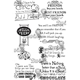 Vintage Affections Cling Mounted Stamps 4''X6''-Girlfriends