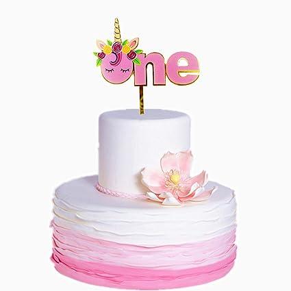 Sakolla Unicorn One Cake Topper Upgraded New Design 1st First Birthday Handmade