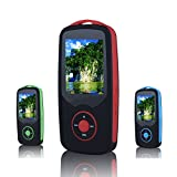 FecPecu Music Player, 4GB Bluetooth MP3 Player Lossless Sound Hi-Fi 50 Hours Playback Portable Audio Player Expandable Up to 64GB (Red)