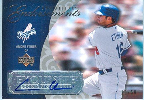 (2007 Upper Deck Exquisite Authentic Andre Ethier Autograph Rookie Card)