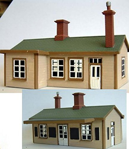 Langley Models Suburban Station Building Brass OO Scale UNPAINTED Model Kit F166 ()