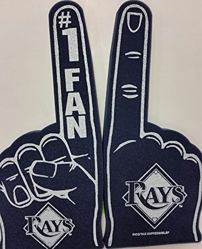 MLB Foam Finger, Tampa Bay Devil Rays, New (Tampa Devil Clothes Rays Bay)