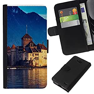 All Phone Most Case / Oferta Especial Cáscara Funda de cuero Monedero Cubierta de proteccion Caso / Wallet Case for LG OPTIMUS L90 // Lake Geneva Switzerland