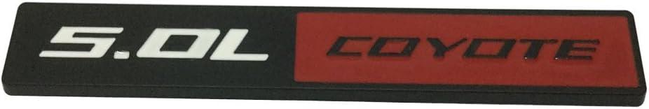 New 1pcs Red Black 5.0L COYOTE Aluminum Emblem Badge Decal Luster