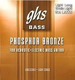 GHS Strings L9000 4-String Phosphor Bronze Acoustic Bass Strings, Long Scale, Light (.040-.096)