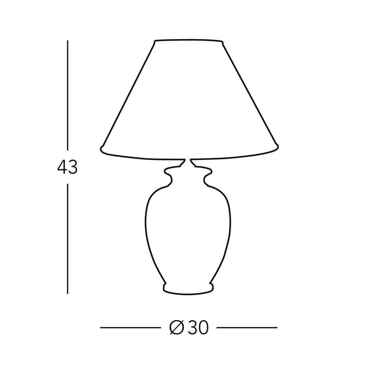 Austrolux 0014.73.3 Tischleuchte, Keramik, 100 watts, E27, DM DM DM 30 cm, Höhe 43 cm c6c11e