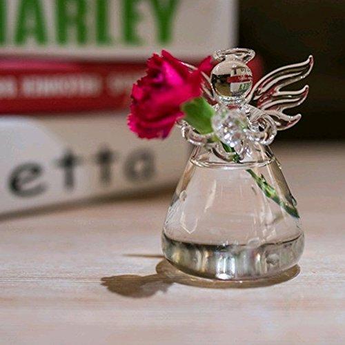 - Kangkang Angel Style Clear Glass Flower Decoration Vase Vidrio Florero De Vidro Vaso Vetro Vaso Glas Vase Home Desk Table Decoration