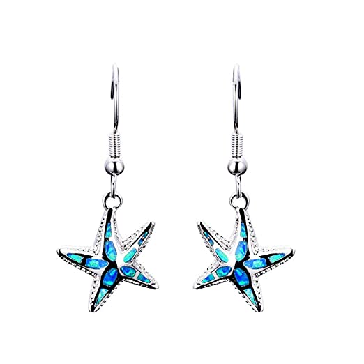a2d8e9766 Amazon.com: A Pair Women 's Plate With Silver Earrings Ear Studs Jewelry  Ornament: Clothing