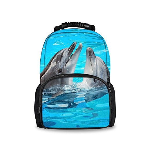dolphin Softback Backpack Bags with Fashion Showudesigns School Tiger Head Animal qTOznw86Z
