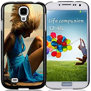 Unique and Fashionable Cell Phone Case Design with Girl in Blue Dress Galaxy S4 Wallpaper