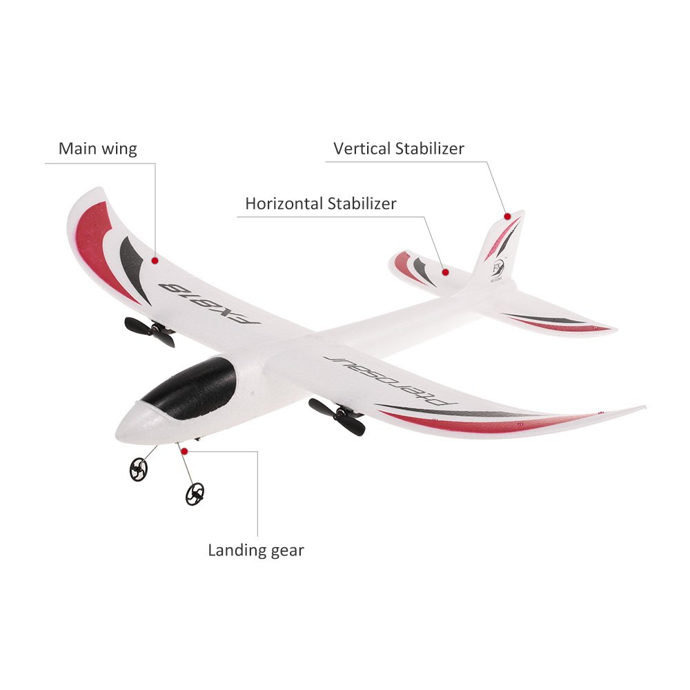 Goolsky FX-818 2.4G 2CH 480mm Envergadura Planeador a Control Remoto ala Fija RC Avi/ón Aviones RTF