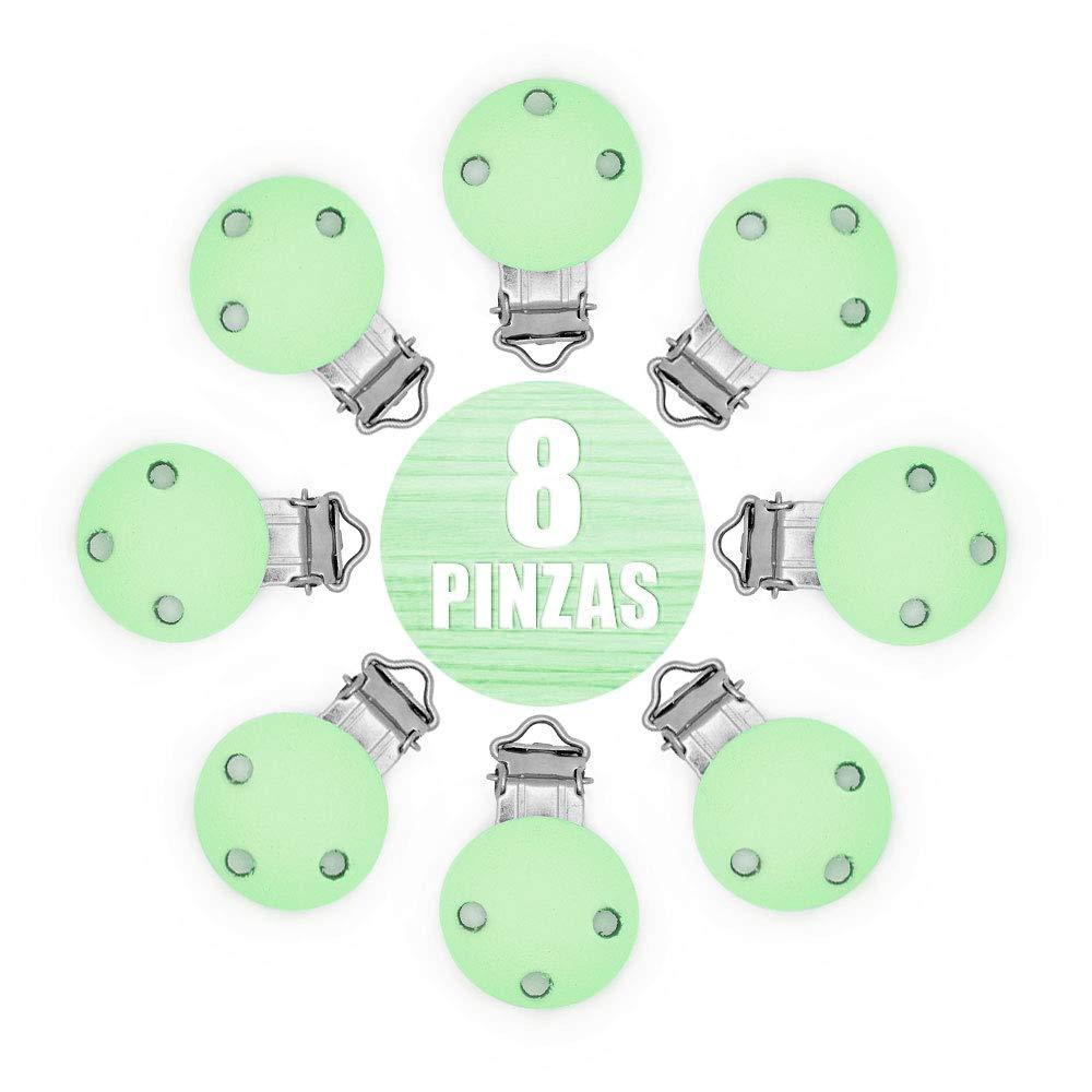 8 PCS Pinza clip para Chupete Envio desde Espa/ña RUBY Natural