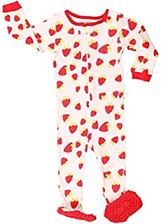 179b2741c elowel Baby Girls Footed Animals Pajama Sleeper 100% Cotton (Size 6 ...
