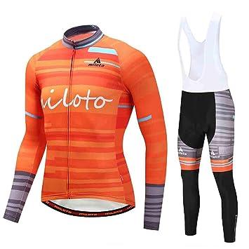 Phciy Traje Ciclismo Hombre, Jersey de Ciclismo con ...