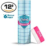 """Vinyl Transfer Paper Tape Roll 12"""" x 12 FT CLEAR w/Blue Alignment Grid 