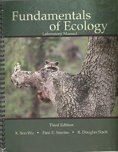 amazon com fundamentals of ecology laboratory manual 9780787295431 rh amazon com general ecology laboratory manual aquatic ecology lab manual