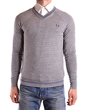 Men's MCBI128176O Grey Wool Sweater