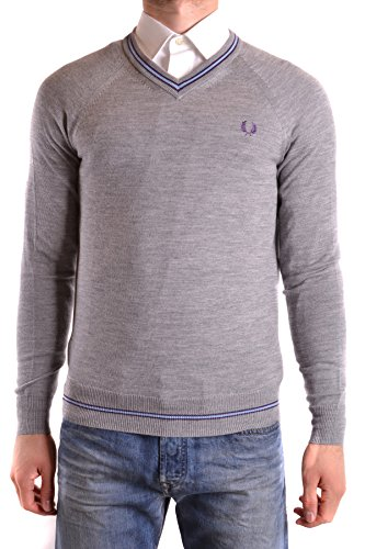 Fred Perry Homme MCBI128176O Gris Laine Maille