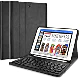 ProCase Keyboard Case for iPad 9.7 2018/2017, Slim Shell Lightweight Smart Cover with Magnetically Detachable Wireless Keyboard for Apple iPad 9.7 Inch –Black