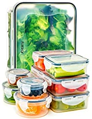 Fullstar Food Storage Containers with Lids - Airtight Leak Proof Easy Snap Lock and BPA Free...