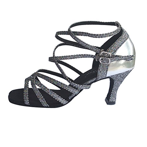 Plantilla Flipmycover sandalias examen de latín Salsa Tango salón zapatos de baile para las mujeres con 6,99 cm del talón